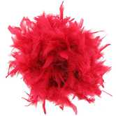 Red 6' Chandelle Feather Boa
